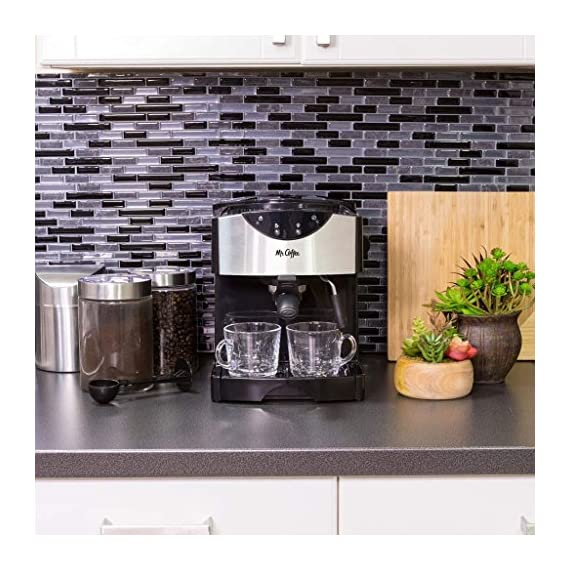 Mr. Coffee Automatic Dual Shot Espresso/Cappuccino System 6 15-bar pump system uses powerful pressure to extract a dark, rich espresso brew Frothing arm makes creamy froth to top off your cappuccinos and lattes Make 2 single shots at once with dual-shot brewing. Watts: 1250