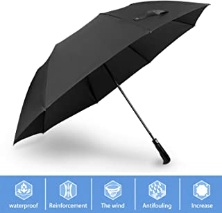 YOPRAL Golf Umbrella, 56 inch Extra Large Canopy Full Fiberglass Windproof Frame,Automatic Windproof Vented Fast Drying Travel Umbrella