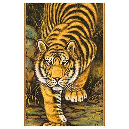 Tokyo Art Gallery ISHIHARA - Kakejiku (Japanese Hanging Scroll) : Tiger (A) - Japan Imported [Standard ship by EMS (Expedited) : with Tracking & Insurance]