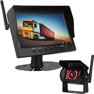 $75 » Wireless Backup Camera with 7 Inch Monitor - HD 1080P Rear View Camera IR Night Vision IP69 Waterproof Reverse Camera: Hea...