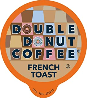 Double Donut French Toast, Fresh Medium Roast Coffee, Single-Serve Pods for Keurig K Cup Brewer Machines, 80 Capsules per Box