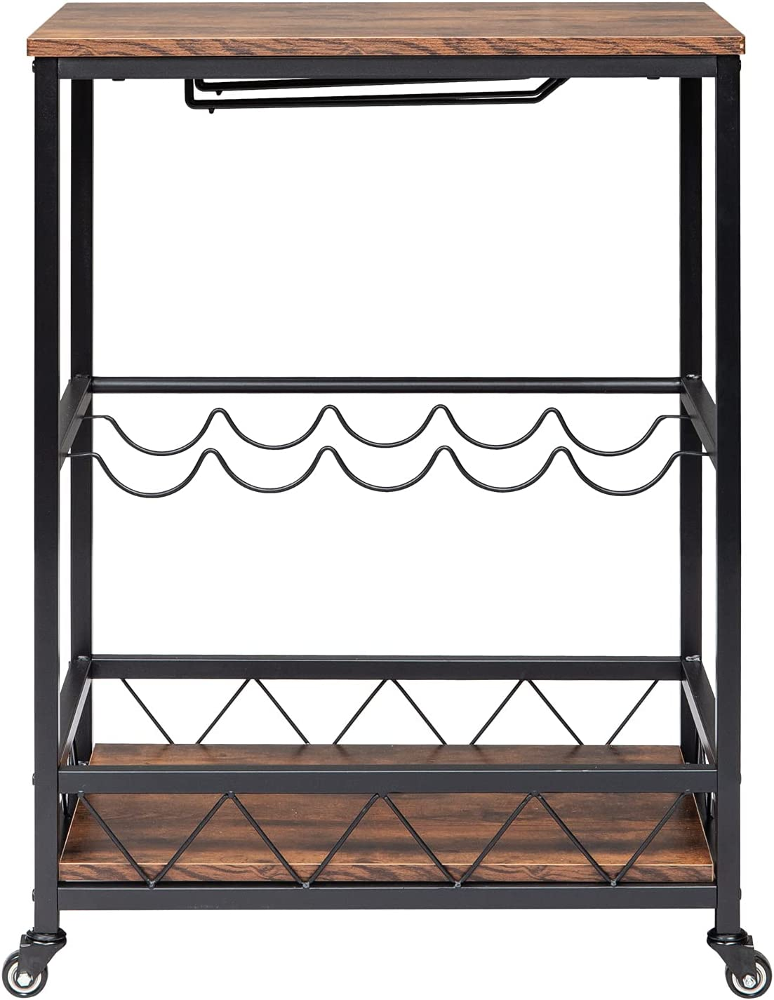 WHuiQin Bar Serving Cart OFFer Home M Kitchen Mobile Product Wood