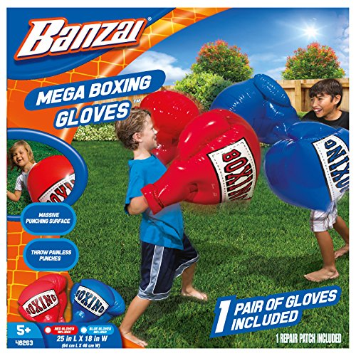 Banzai Kids Inflatable Mega Boxing Gloves - 1 Pair of Gloves Made in USA (Random Color)