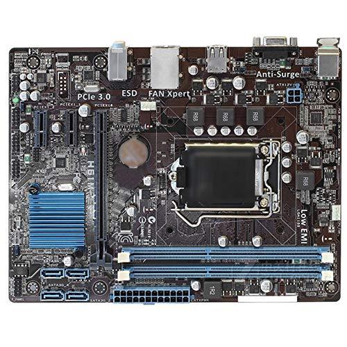 ALBBMY Ajuste para Asus H61M-E Desktop Motherboard H61 Socket LGA 1155 I3 I5 I7 DDR3 16G UATX UEFI BIOS Mainboard Gaming Motherboard
