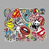 STKCST Anime Cartoon Graffiti DIY Paquete de Pegatinas Cuaderno Creativo Etiqueta Adhesiva Decoración Etiqueta de Equipaje Coche Impermeable Colorido Lindo Vinilo estético Etiqueta Personalizada
