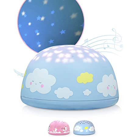 Details about  /SomeShine Starry Sky Night Light Projector With Music Blue New//Boxed for Kids