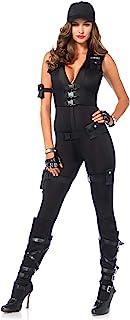 Leg Avenue Women's 7 Piece Deluxe Swat Commander Costume