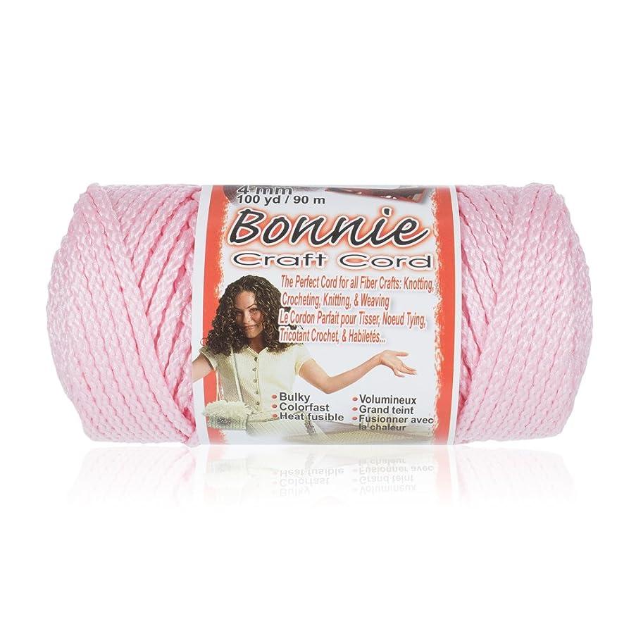 Craft County Bonnie Macramé Cord - 4mm - 100 Yard Lengths (Pink)