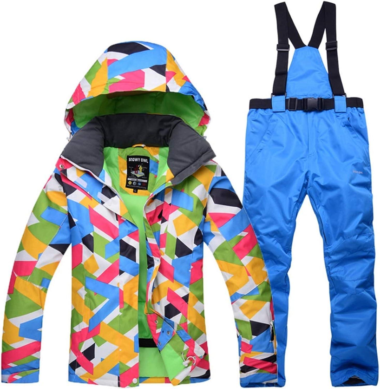 Carriemeow Women's Warm and Windproof Ski Suit Waterproof Ski Pants