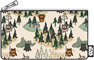 Loungefly Star Wars Ewok Forest Print Coin Cosmetic Bag STCB0101