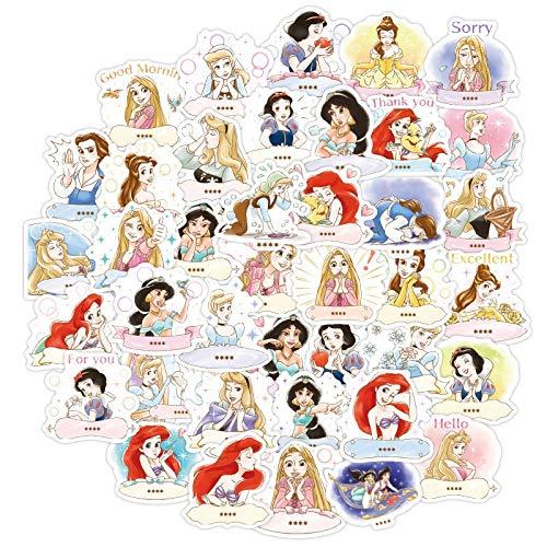 WOCAO Sticker Toy Disney Princess Minnie Super Hero Stitch Cute Sticker Luggage Notebook Graffiti Stickers 40Pcs