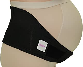 GABRIALLA MS-96i Breathable Cotton Lined Maternity Belt | Back Support |Made in USA |Belly Band for Running & Exercising | Abdominal Pain | Lower Back Pain| Postpartum Recovery: Black Medium