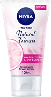 NIVEA Natural Fairness Cleansing Face Wash, Even Skin Tone, 100ml