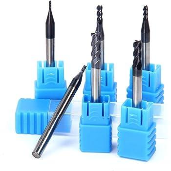 0.5mm 10pcs C/ône Fraise en Carbure de Tungst/ène Bleu Enduit Fraises en Bout pour Machine de Gravure Carte de Circuit Imprim/é SCM