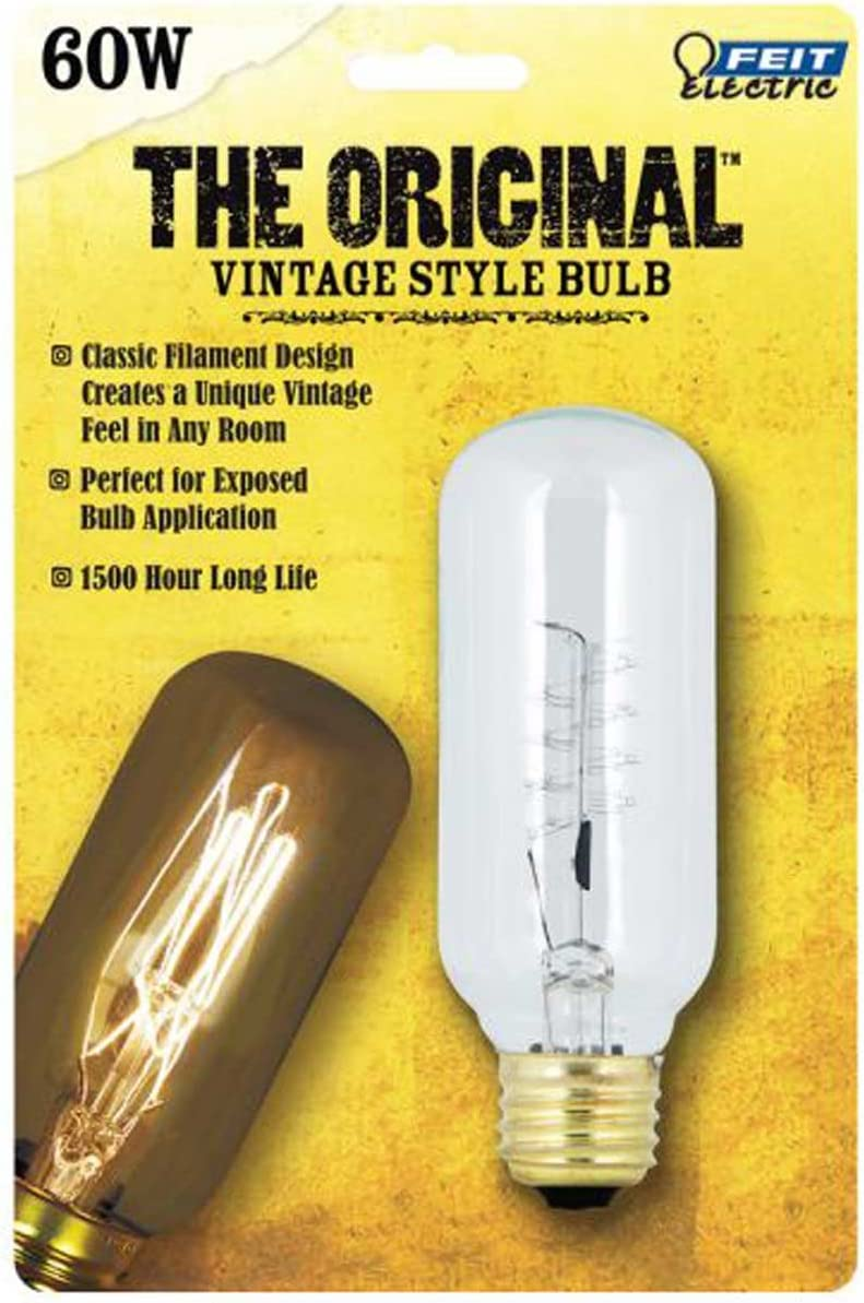 100% quality Max 56% OFF warranty FEIT Electric The Original 60 Bul Incandescent T14 Vintage watts