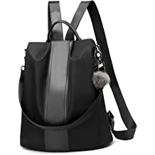 Women Backpack Purse Waterproof Nylon Anti-theft Rucksack Lightweight  School Shoulder Bag 55aa6c4867a38