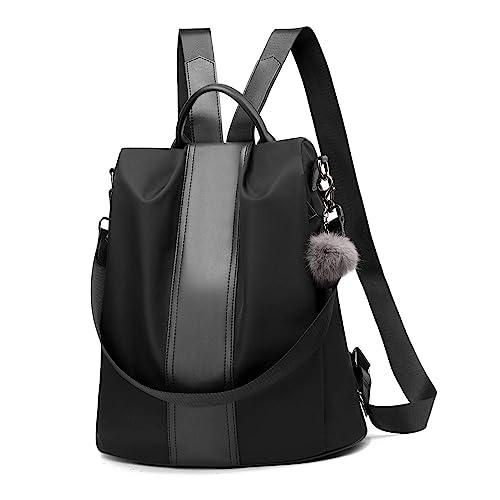 e05c84991b1a Women Backpack Purse Waterproof Nylon Anti-theft Rucksack Lightweight  School Shoulder Bag