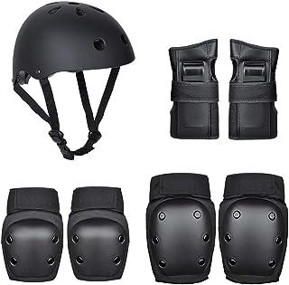7-delige beschermingsset voor fietsen, skaten, beschermende uitrusting met helm, kniebeschermers, elleboogbeschermers, han...
