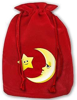 Leisue Clipart Sun Moon and Stars Bags Drawstring Santa Sack Decorations