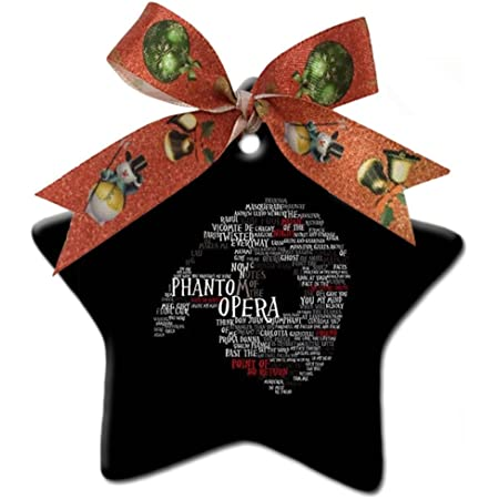 Astilnet Phantom Of The Opera Custom Gift Star Christmas Ornaments Ceramic Crafts Home Decoration Home Kitchen