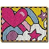 ZUSFUL Punto de Cruz Hecho a Mano de Bricolaje Alfombra Cojín Alfombra de Ganchillo Kits de Alfombras Bordadas Latch Hook Kit,C,52×38cm