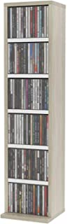 Estanterías para CD DVD Gabinete de CD de 6 capas, gabinete de colección de piso, soporte para discos con cajones, estante...