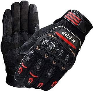 Guantes de Motos Guantes con Protección Guantes Moto Verano Anti-Deslizante Función de Pantalla Táctil Proteccion Gloves Racing Moto de La Motocicleta del Motocrós Ciclismo Dirt Bike, 1 Par