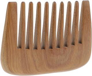 木製の櫛の髪ピック広い歯ポケット髪の櫛の髪のもつれを解消する櫛毛マッサージャーブラシグリーン白檀