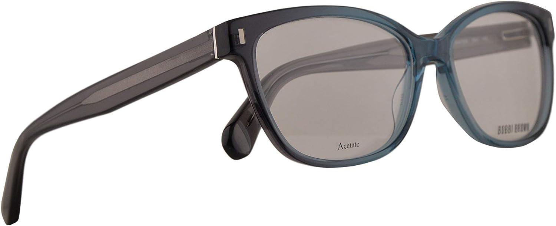 Bobbi Brown The Winter Eyeglasses 5315140 Grey Shaded Aqua w Demo Clear Lens Z0V