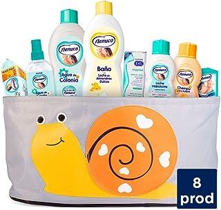 Nenuco Canastilla Regalo Bebé Recién Nacido con colonia, toallitas, jabón de baño, leche hidratante, champú, pasta al agua eryplast y cesta