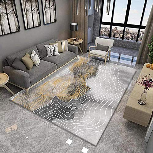 Alfombra dormitorios Sala de Estar Alfombra Gris Malla Abstracta Modelo Suave Alfombra Antideslizante Gris moqueta 50X80CM alfombras Entrada casa 1ft 7.7''X2ft 7.5''