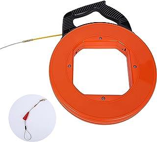 30 Meter Fibreglass Fish Tape Reel Puller, Durable Fibreglass Cable Tape Spools Fish Tape Reel Puller Line Canal Rodder Pu...