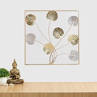 Home Centre Iliano Leaf Wall Art - 20 x 50 cm, Multicolour, Standard (ILIANO-CGL-PM21-003)