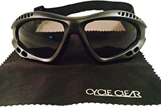 Motorcycle Goggles For Men - Windproof For Tear Free Ride - ZX1 By Cycle Clear