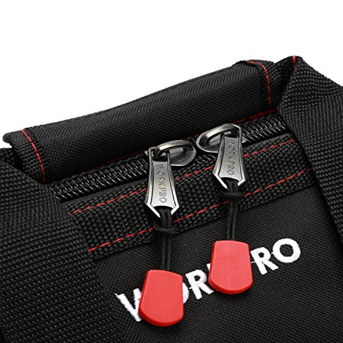 WORKPRO 16-inch Close Top Wide Mouth Tool Storage Bag with Water Proof Rubber Base, W081022A, 16