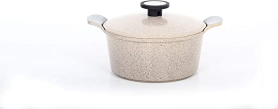 Neoflam Garnet Pot 22 cm with Lid Granite Cauldrons, Brown - 3000001159933
