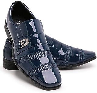 Sapato Social Masculino Couro Verniz Bico Fino Macio Confortável Para Casamento 803