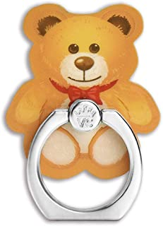 Velvet Caviar Cell Phone Ring Holder - Finger Ring & Stand - Improves Phone Grip Compatible with iPhone, Galaxy and Most Cases (Except Silicone/Leather) - Teddy Bear