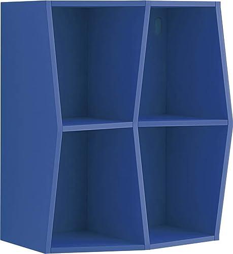 Giessegi Job 7538, Bücherregal Prisma aufgeh t A Wand, Holz 31.6x40x40cm   Himmelblau
