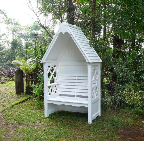 Laubenbank Bali Rosenbank Pavillon Gartenbank Bank Teehaus Liebesbank