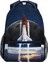 Mr.Lucien Space Spaceship Rocket Backpack for Boy for Girl Nasa Bookbag 2020989