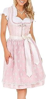 Krüger Damen Dirndl Mini, Modell: Dirndl Princess 60 cm, Knielang, 60cm, Art.-Nr. 047486-0-0033, rosa