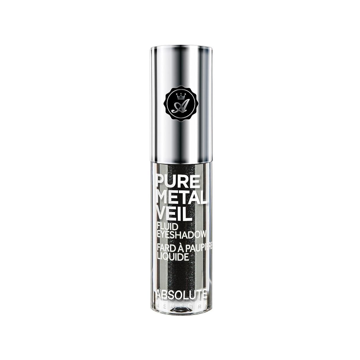 槍モニター補助(3 Pack) ABSOLUTE Pure Metal Veil Fluid Eyeshadow - Blackout (並行輸入品)
