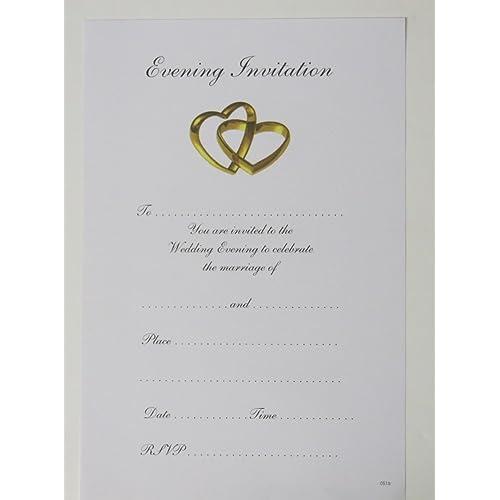 Silver Wedding Invitations Amazon: Evening Wedding Invitations: Amazon.co.uk