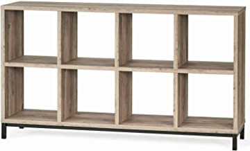 Better Homes and Gardens.. Cube Organizer with Metal Base, (8 Cube, Rustic Gray)