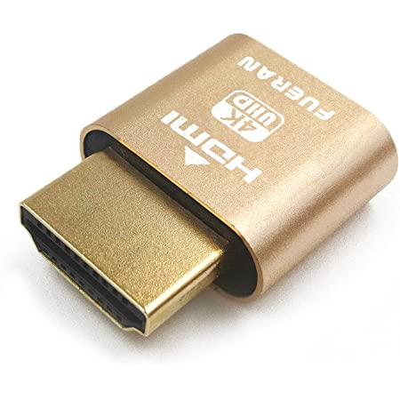 EVanlak HDMI Dummy Plug Headless Ghost Display Emulator Premium Aluminum PC(Fit Headless-3840x2160@60H New 3RD)-1Pack/…