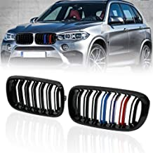Front Replacement Kidney Grille Grill Compatible with BMW X5 Series F15 X6 Series F16 X5M F85 X6M F86 (Gloss M Color)