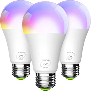 چراغ های روشنایی چند لایه ای Dimmable ، بدون توپی مورد نیاز ، با آمازون الکسا و صفحه اصلی گوگل (3 بسته)