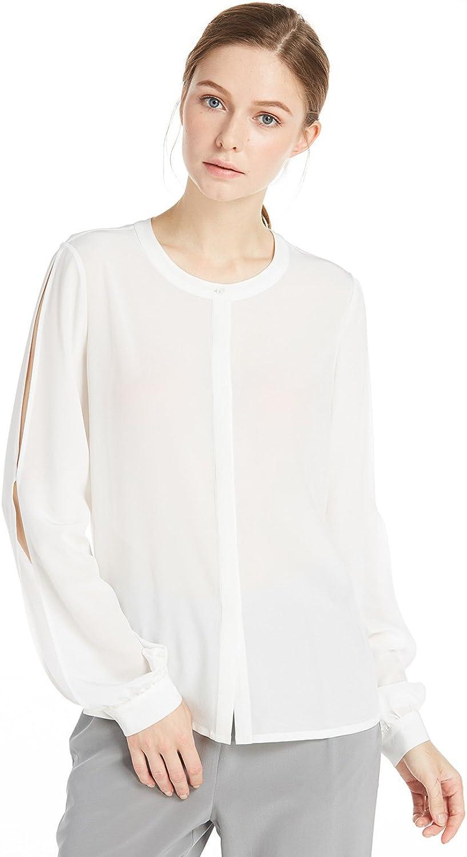 LilySilk 18MM Allure Slit Sleeve Silk Blouse & Shirt for Women This Summer