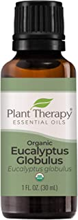 Plant Therapy Organic Eucalyptus Globulus Essential Oil 100% Pure, USDA Certified Organic, Undiluted, Natural Aromatherapy...